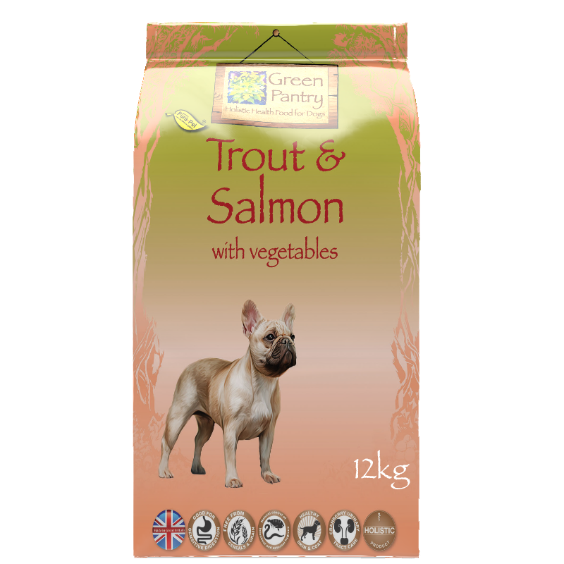 Green Pantry Trout & Salmon with Lentils Dry Dog Food
