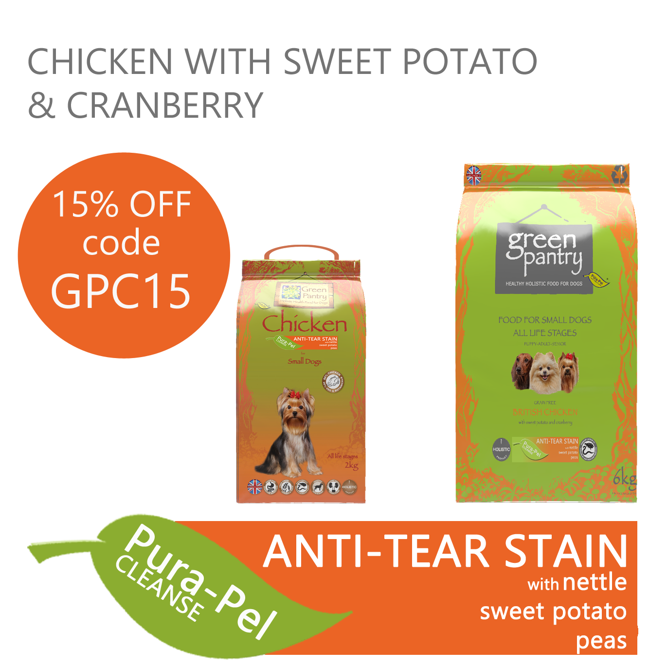 Green Pantry Chicken with Sweet Potato & Cranberry ats