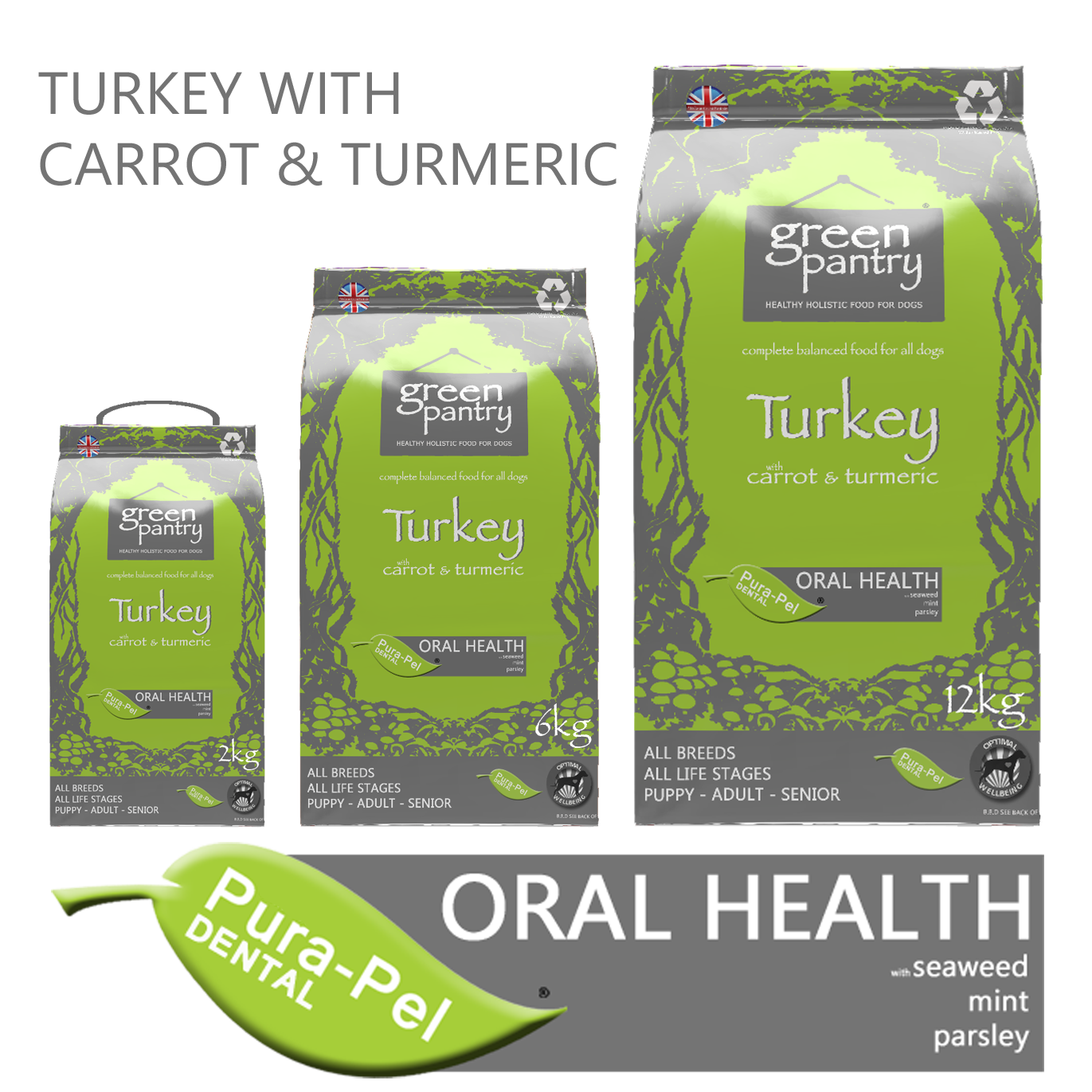 Green Pantry Turkey with Carrot & Turmeric dry dog food
